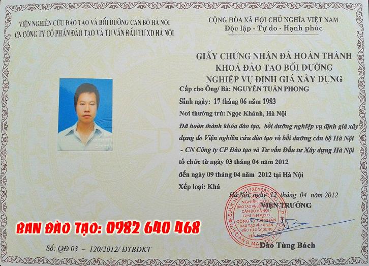 Học lớp Kỹ sư định giá tại Hà Nội - Hồ Chí Minh và các tỉnh khác trên Toàn Quốc