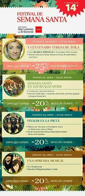 Festival de Semana Santa 2015 en el Teatro Auditorio de San Lorenzo de El Escorial - Pincha para verlo ampliado