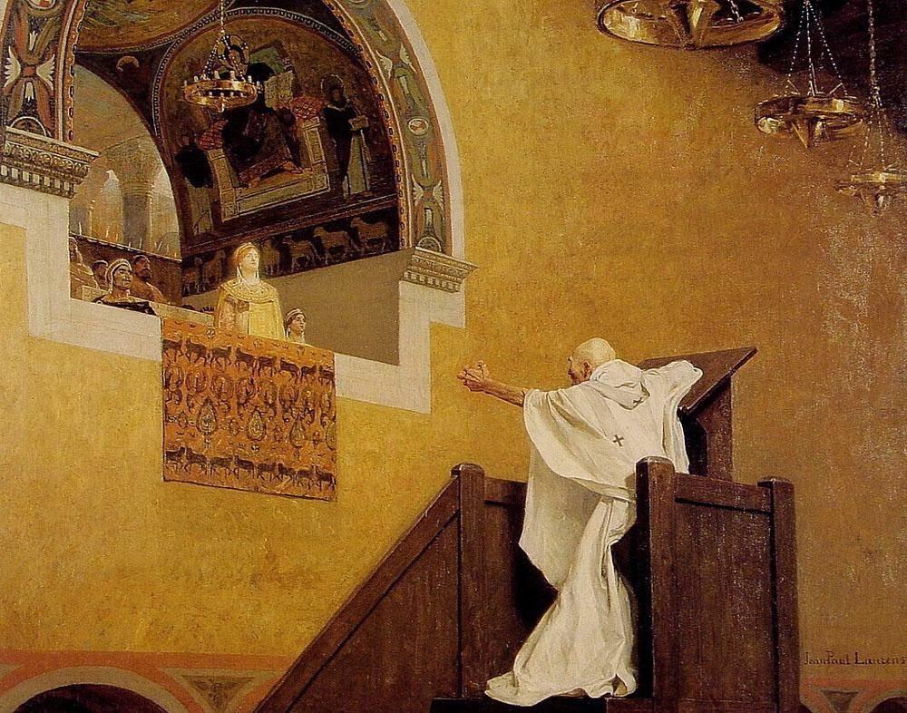 Jean-Paul Laurens - Saint John Chrysostom and Empress Eudoxie