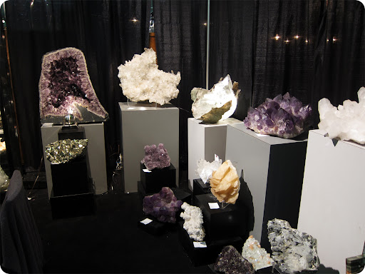 I guess its not odd to find a dealer with a big mineral collection. These rocks are more antique than anything else!