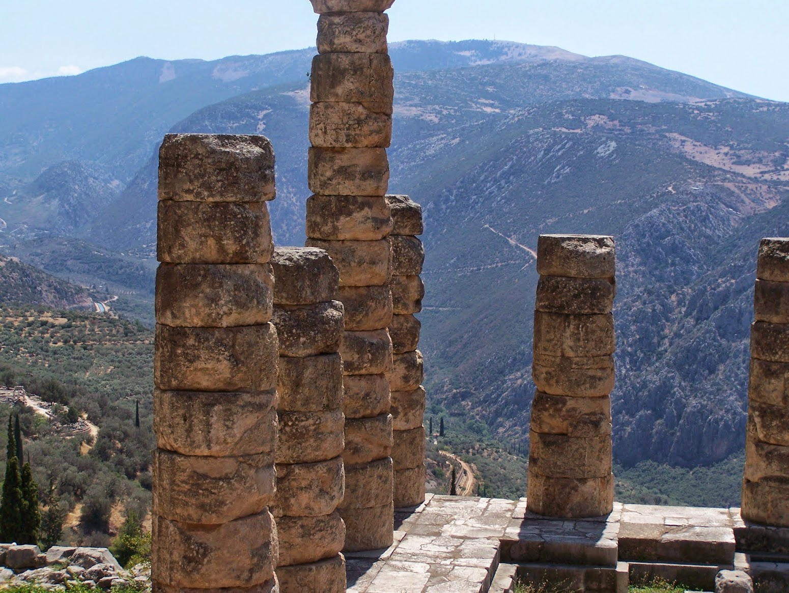 The Ruins of the Oracle at Delphi