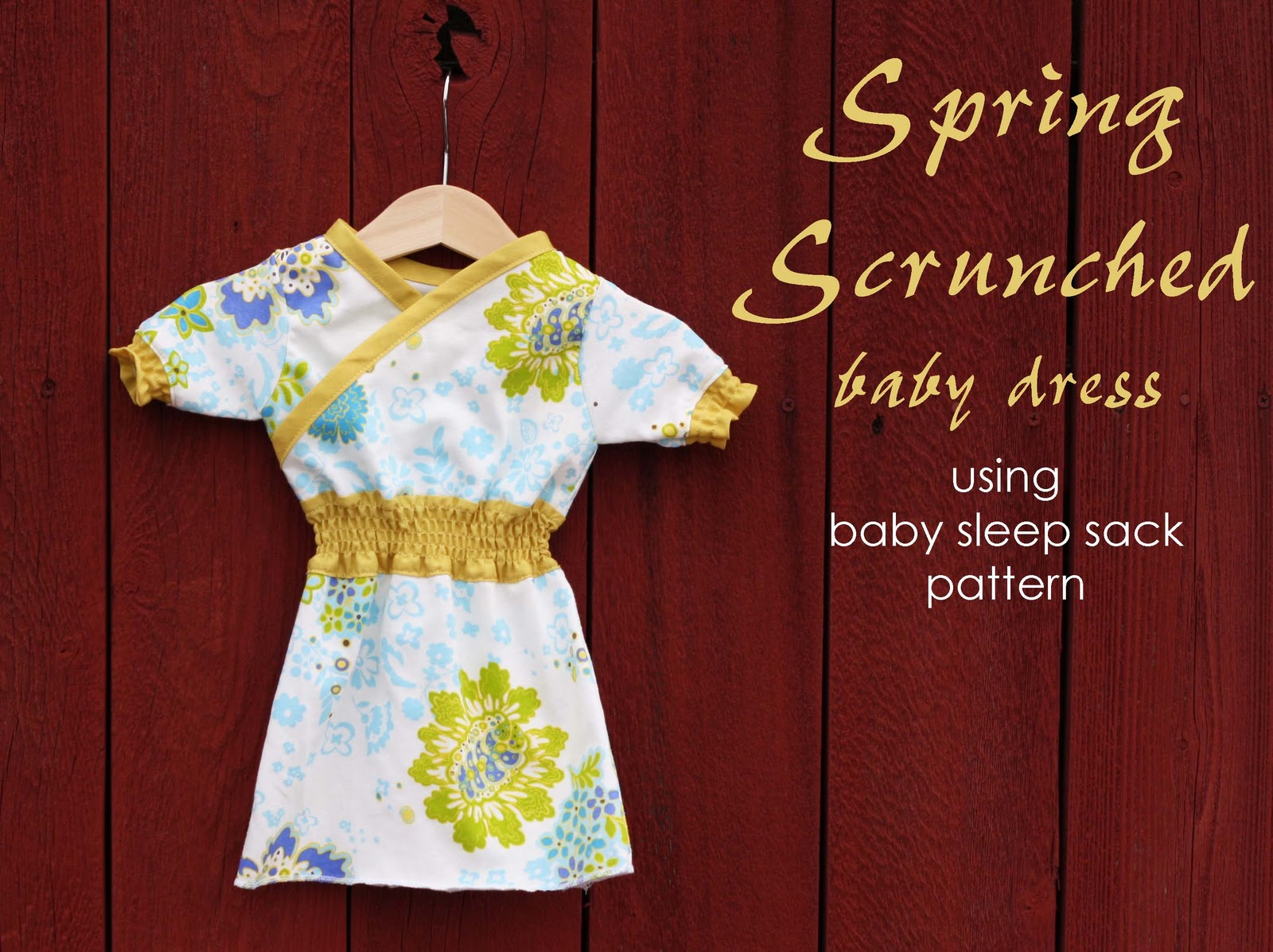 Running With Scissors Baby Dress Scrunched