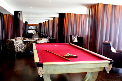 Pool table in the rooftop lounge at The Phoenicia Hotel in Beirut Lebanon