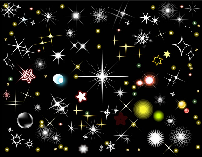 Stars and Light Effects Vector art Graphics