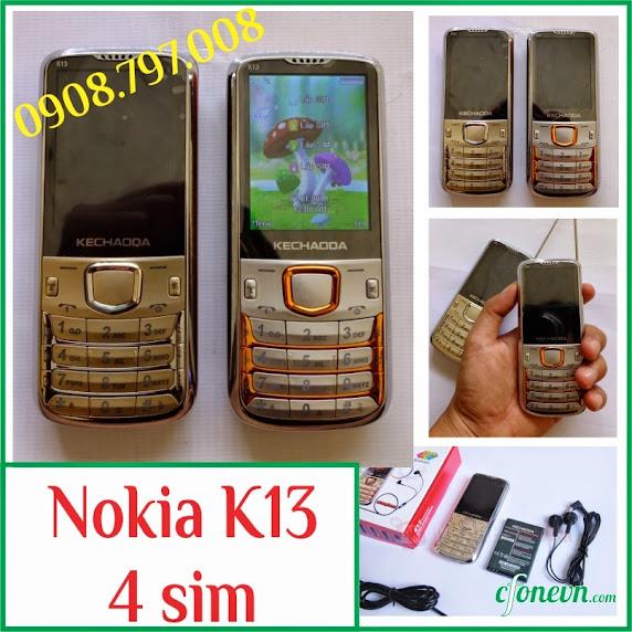 Dien thoai Nokia K13 Kechaoda K13 4 sim 4 song