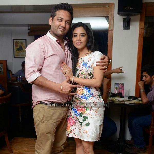 Lalit and Apeksha clicked during a Weekend party, held at Zaras Tapas Bar.