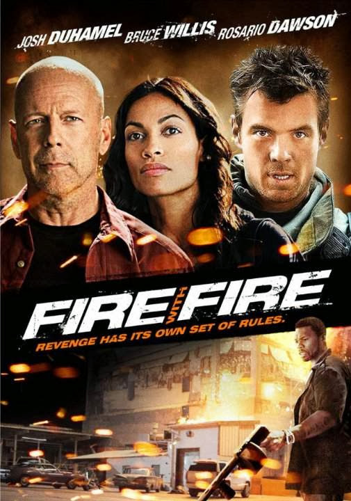 Poster Of Fire with Fire (2012) Full Movie Hindi Dubbed Free Download Watch Online At Alldownloads4u.Com