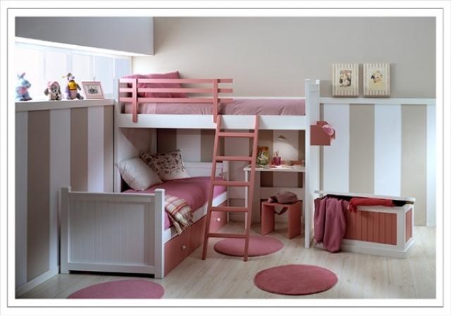 Camas en l for Dormitorios juveniles cama nido doble