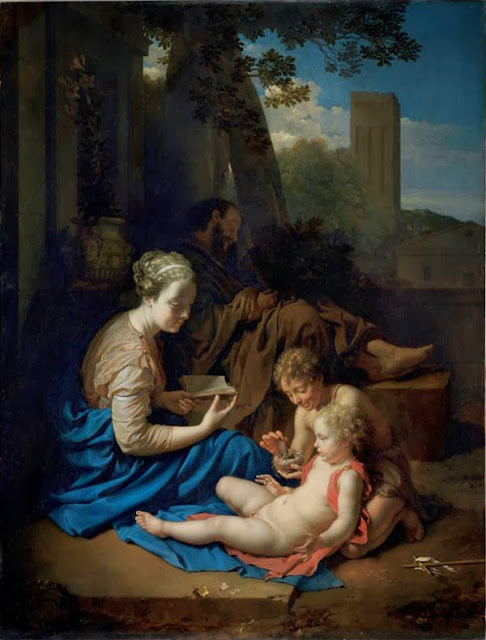 Adriaen van der Werff - The holy family with John Baptist as a boy, 1715