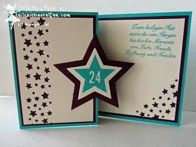 stampin up, christmas card, weihnachten, 24 türchen, 25 days, sternenkonfetti, confetti stars, weihnachtsgrüße