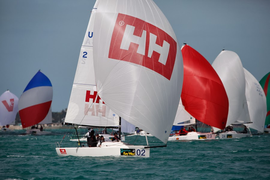 J/70 Helly Hansen winning Key West Midwinters