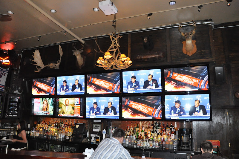 Sports Bar with 53 HDTVs including a make shift Video Wall