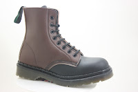 Brown vegan boot made in the UK