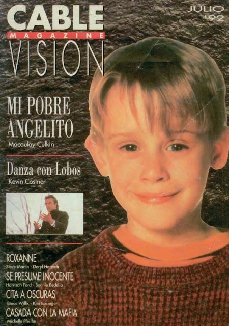 Tapa de Cable Magazine Vision (Julio de 1992) Cablevisionmagazine-julio1992