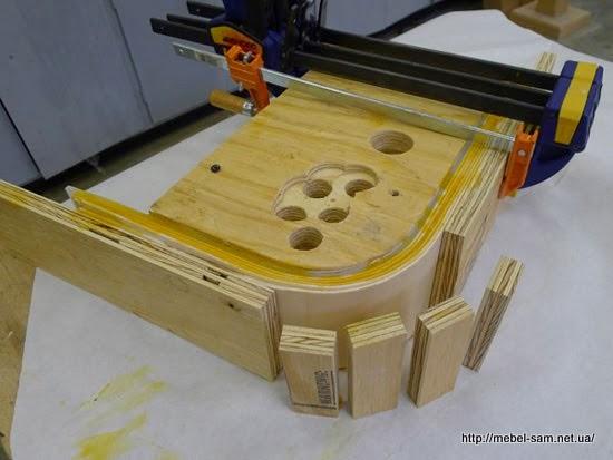 Матрица для изготовления гнутоклееный фанерных деталей