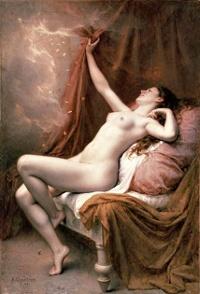 Dánae - Alexandre Jacques Chantron 1891