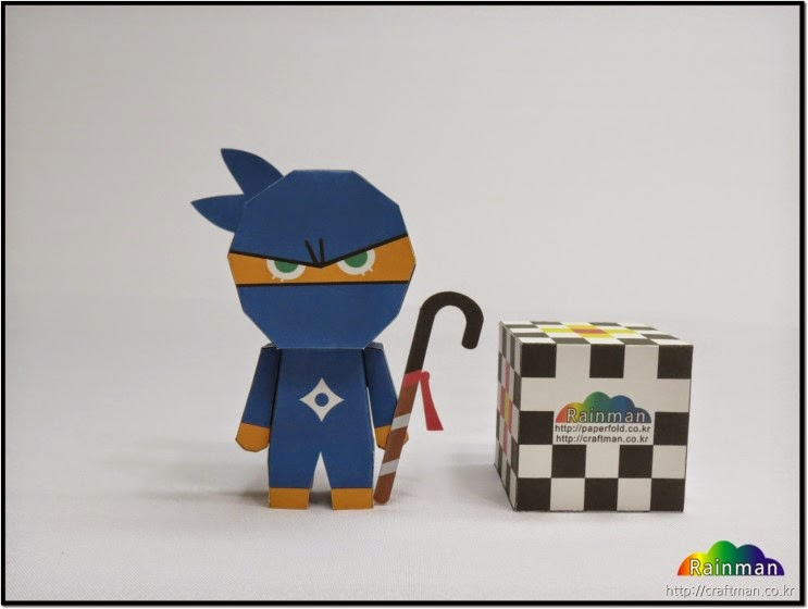 Ninja Cookie Papercraft