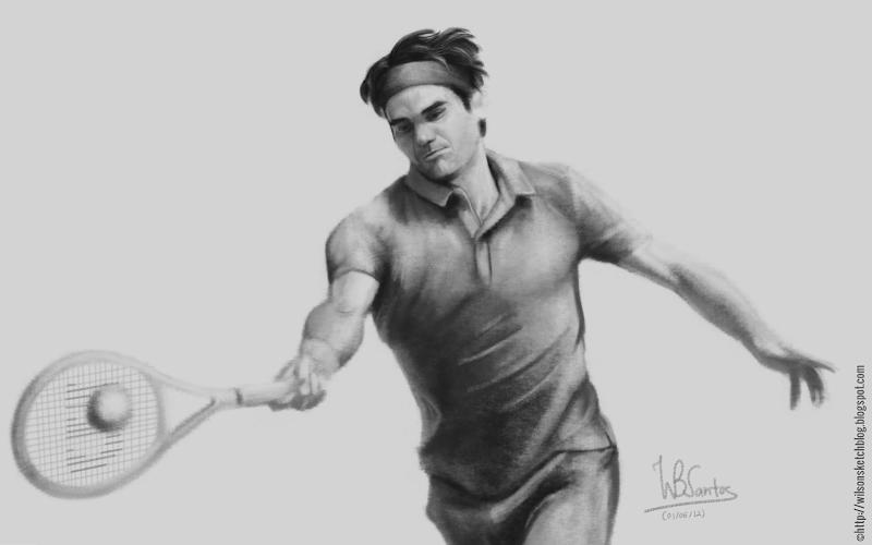 Roger Federer at Roland Garros 2012