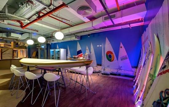 Google Büro Beleuchtungskonzept in Tel Aviv