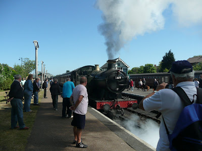 Steam train operate throughout the Beer Festival