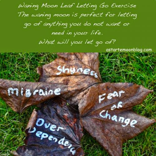 Waning Moon Leaf Letting Go Exercise