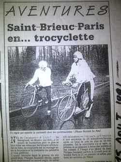 Philippe Saumont à l'entraînement sur la Trocyclette pour Saint-Brieuc - Paris