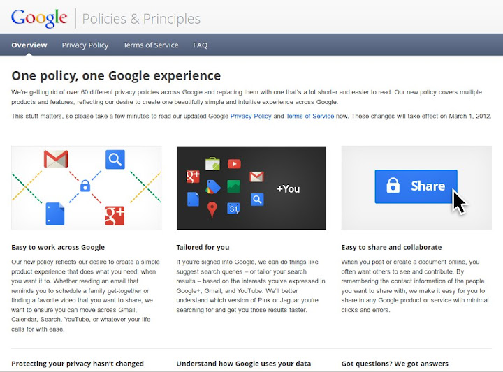 Google Policies and Principles
