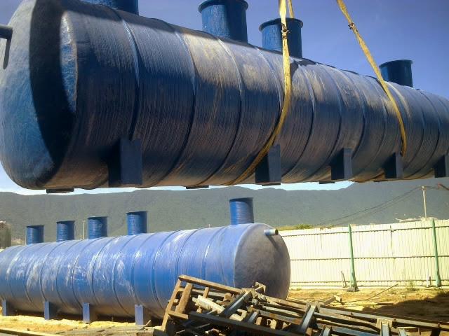 lắp đặt bồn composite xử lý nước thải