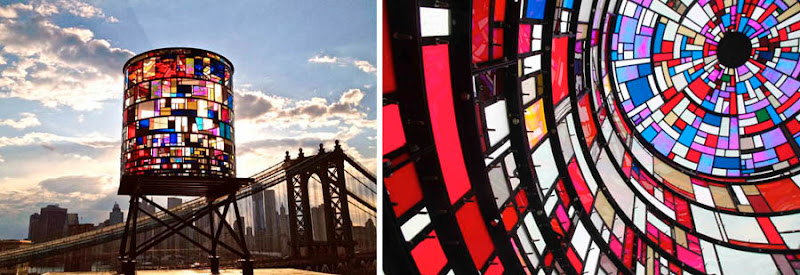 Stained Gl Water Tower In Brooklyn Ny Project By Tom Fruin