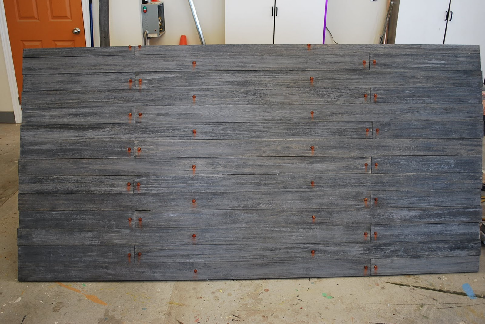 The Final Step Was To Mount All Weathered Planks 4X8 Sheet Of Plywood After That We Inserted Our Rusty Bolt Heads Added Some Rust Stains