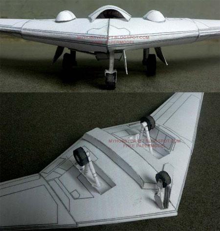 RQ170 Sentinel Papercraft Beast of Kandahar UAV
