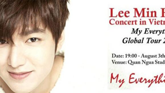 Poster show Lee Min Ho tại Hà Nội