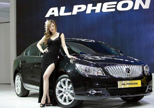 Korean Model Hwang Mi Hee car model
