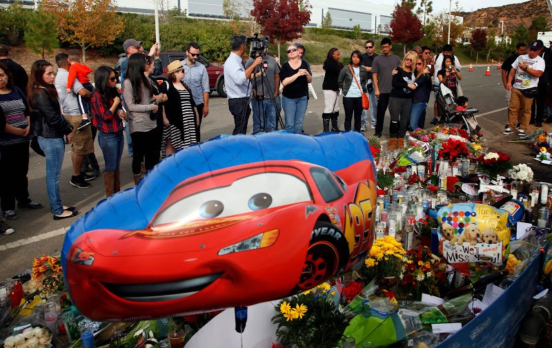 Roadway memorial for Paul Walker