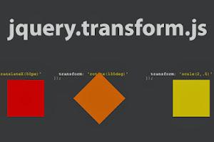 jquery.transform.js – Cross Browser 2D Transform Plugin