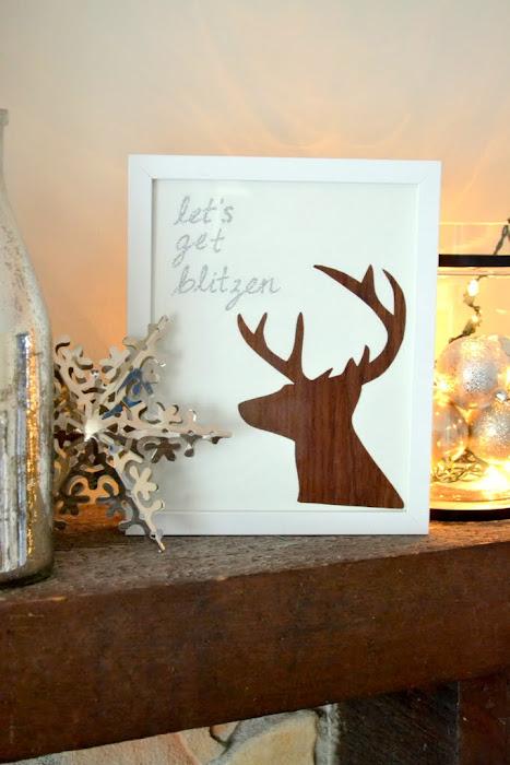 Let's Get Blitzen - DIY Christmas Reindeer Art