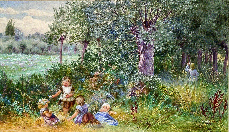 Myles Birket Foster - Children Playing in a Wood - ca 1867