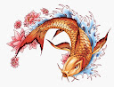 Koi Fish Tattoo Drawing 9
