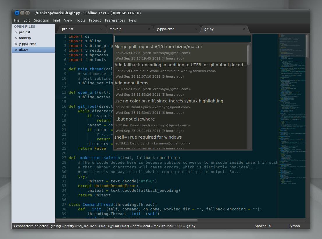 Sublime Text 2 GIT Plugin ~ Web Upd8: Ubuntu / Linux blog