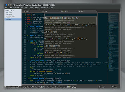 Sublime Text 2 Git plugin