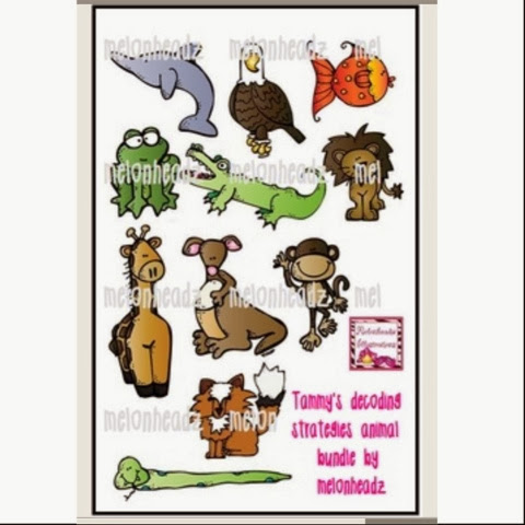 http://www.teacherspayteachers.com/Product/Tammys-decoding-strategy-animal-bundle-by-melonheadz-350412