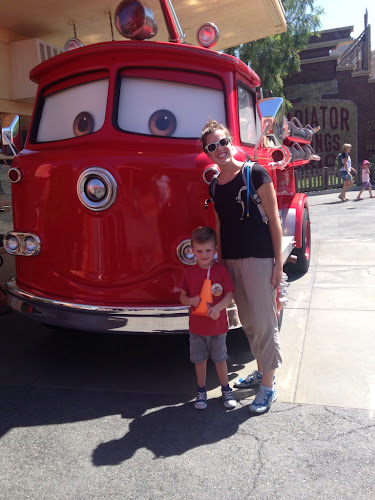 Red fire truck from cars, Disney California Adventure park