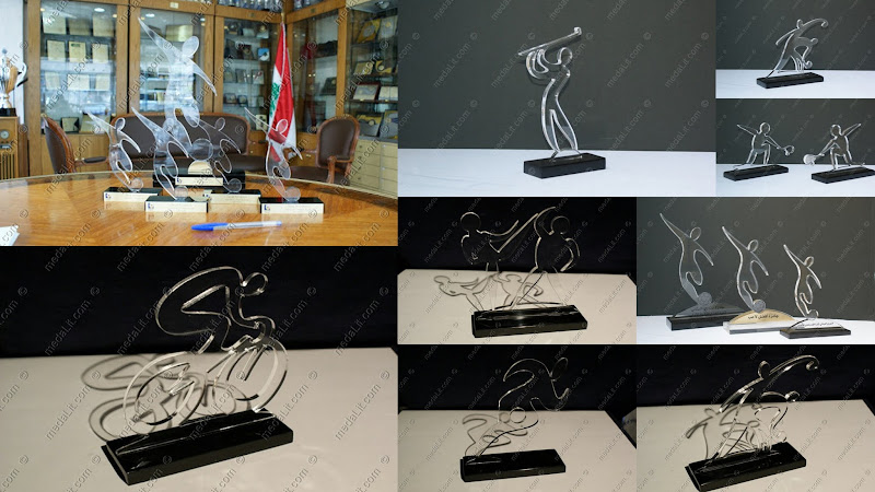 Custom made acrylic trophy