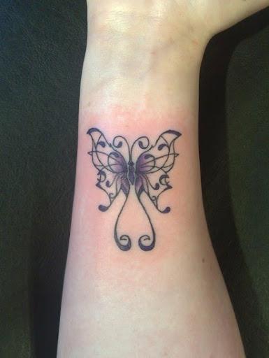 butterfly wrist tattoo ideas for women