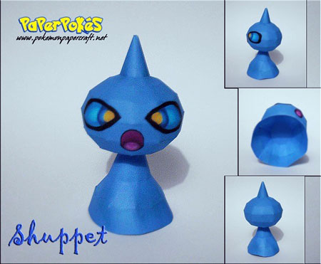 Pokemon Shuppet Papercraft