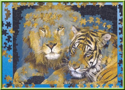 puzzle lion tigre