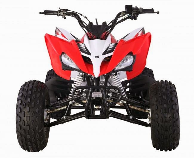 125cc Raptor Style Series 2 Feral Sports Quad Bike - Red