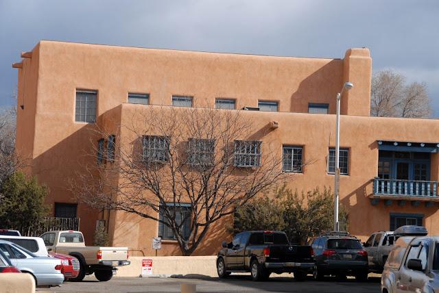 Adobe building in Santa Fe New Mexico