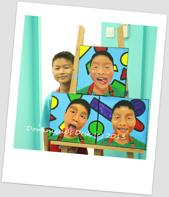 Monkey boy with his self potrait