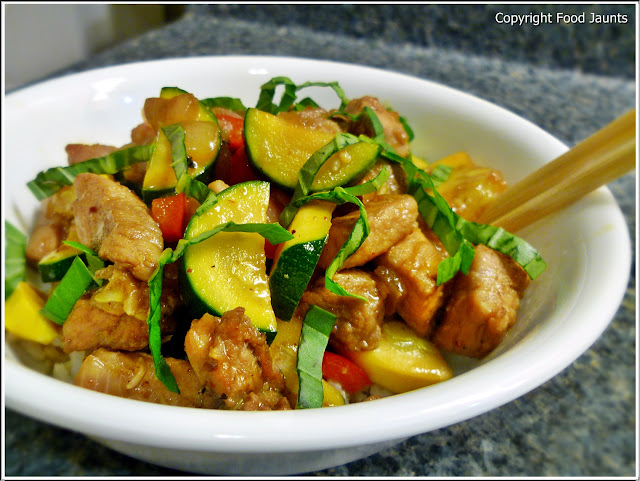 Sweet Pork Zucchini Vegetable Stir Fry